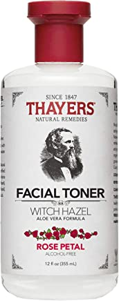 Thayers Alcohol-Free Rose Petal Witch Hazel Toner with Aloe Vera Formula-12 Oz