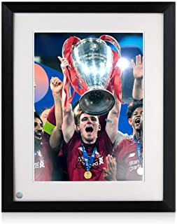 Andrew Robertson Signed Liverpool Photo: 2019 Champions League Winner Framed| Autographed Memorabilia