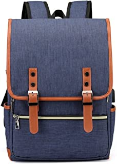 Laptop Backpack Daypack Fits 15.6 inch with USB Charging Port (Blue)