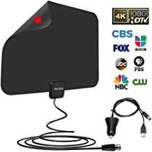 Indoor HDTV Antenna,Amplified HD Digital TV Antenna Long 50-100 Miles Range - Support 4K 1080p Fire tv Stick and All Older TV's Indoor Powerful HDTV Amplifier Signal Booster