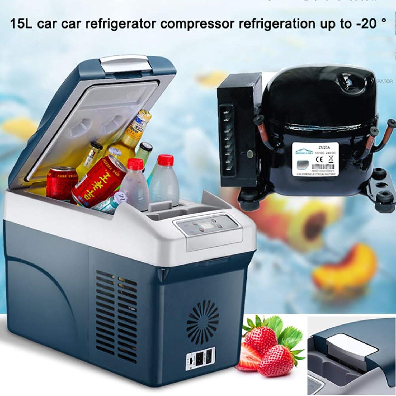 Compressor Cool Box Electric Cool Box for Car Truck 24V 12V 110240V (15L) Car Mini Refrigerator Car Cooler Long Distance Driving Journeys and Camping,15LCar Van
