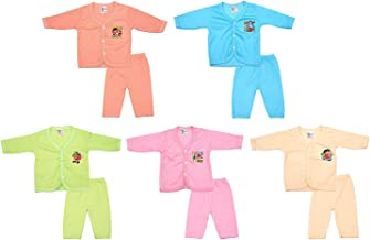 Rebizo Unisex Cotton Clothing Set (Multi-Colored, Pack of 10 Piece, 0-3 Months)