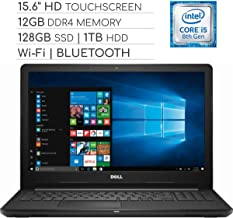 Dell Inspiron 3000 Series 15.6 inch Touchscreen 2019 Laptop Notebook Computer, Intel Core i5-7200U 2.5Ghz, 12GB DDR4 RAM, 128GB SSD + 1TB HDD, Wi-Fi, HDMI, Webcam, Bluetooth, USB 3.0, Windows 10