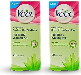 Veet Full Body Waxing Kit - Dry Skin (Pack of 2)