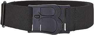 Beltaway Flat Buckle Stretch Belt No Show Adjustable Belt BLACK One Size (0-14)