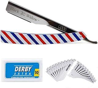 Barber Straight Razor Kit - Durable Barber Straight Edge Razor Kit with 10 Double- Edge Straight Razor Blades, Straight Ra...