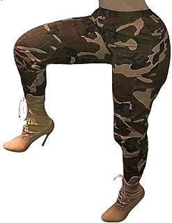 Damen Camouflage Chino Hose Hüfthose Stoffhose Armee Militär Pants Stretch PD