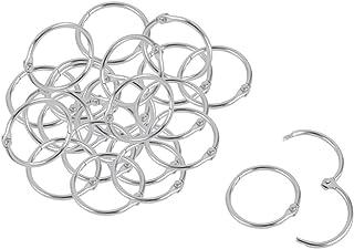 7 Piezas Metal 8.9 cm Anillos Sueltos Hojas Encuadernador Llaveros para Scrapbooking Libro