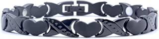 Origin Titanium Women's Pain Relief Magnetic Therapy Bracelet with Heart Design, Includes Germanium and Far Infra Red Inserts