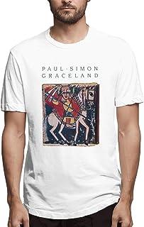 メンズ Tシャツ おしゃれ 半袖 Paul Simon Graceland DTG プリント ブラック