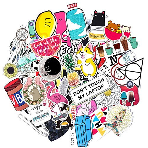 Gaekce Stickers for Water Bottles Big 50-Pack Cute Aesthetic Trendy Stickers for Teens Kids Girls and Boys, Perfect for Hydro Flask Laptop Notebook Phone Car Skateboard