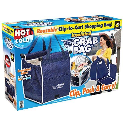 Set of 2 Insulated Grab Bag Grabbag Reusable Grocery Bag