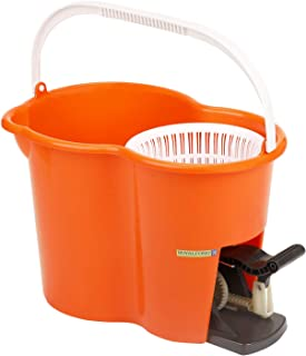 Royalford Easy Spin Mop and Bucket Set (Pedel) | 360 Degree Spinning Mop Bucket Home Cleaner| Extended Easy Press Stainles...