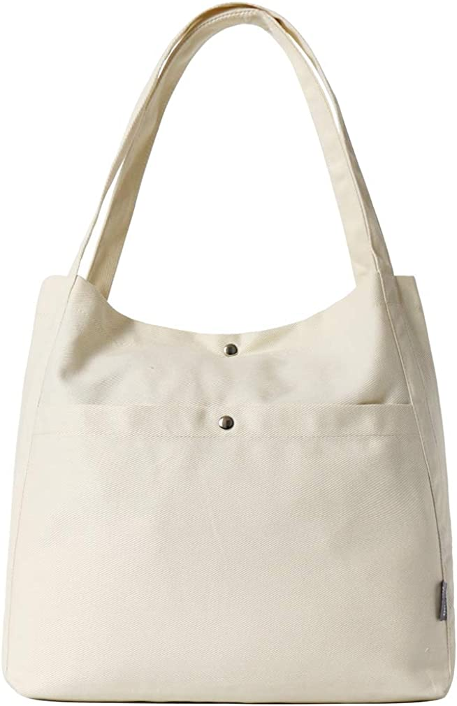 Women Canvas Shoulder Tote Bags Lightweight Hobo Handbags for Work School Top Handle Purse