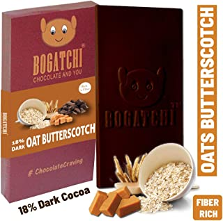 BOGATCHI Oats Healthy Chocolate Bar with Butterscotch, 80g