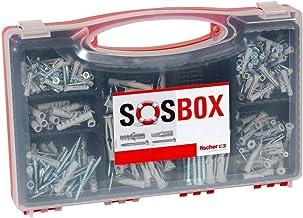 fischer SOS-box met spreidpluggen S en universele pluggen FU - voor talrijke bouwmaterialen en diverse toepassingen - inc...