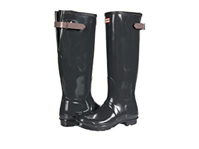 Hunter Original Back Adjustable Gloss Rain Boots (Firth/Atlantis) Women