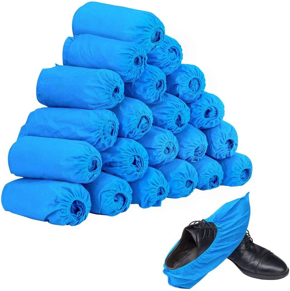 100pcs 50 Pairs Non-woven Oakland Inventory cleanup selling sale Mall Fabric Covers Disposable Shoes Elast