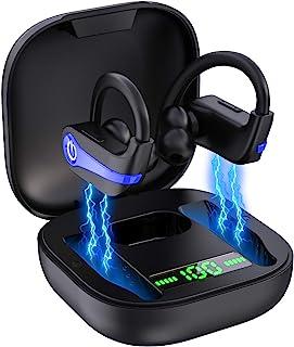 lecover Cuffie Bluetooth 5.1, Sport Auricolari Bluetooth Senza Fili, Cuffie Wireless In-ear con Bassi Potenziati, IP7 Impermeabile CVC 8.0 Auricolari Wireless con Mic, Curvetta Design, Durata 40 Ore