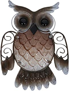 Liffy Wall Hanging, Metal Owl Home Decor ,Garden Decoration ,Outdoor Statues Accessories Sculptures and Miniatures Animale...