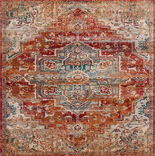 Luxe Weavers Red 5x7 Oriental Area Rug