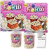 Confetti Cake and Frosting 4 Pack |Funfetti Strawberry Cake and Cupcake Mix 2 Pack |Pillsbury...