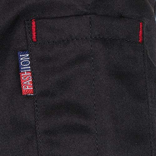 F Fityle Männer Frauen Kochjacke Langarm M-3XL Bäcker Kochhemd Bäckerjacke Kochbekleidung Gastronomie Arbeitskleidung Arbeitsjacke – Schwarz, L - 4