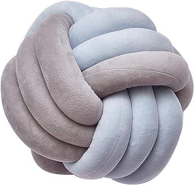 Amazon.com: Almohada de nudo de bola, almohada decorativa de ...