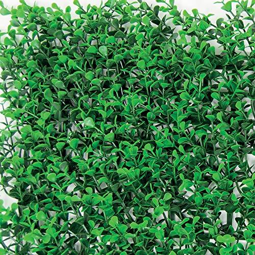 Seto sintético de paneles para pared de jardín vertical, verde intenso