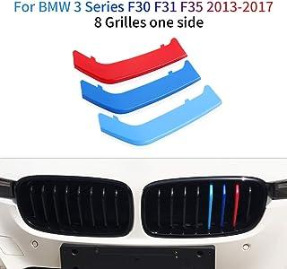 Rene griglia radiatore anteriore Insert Trim striscia griglia di Motorsport decorazione adesivi 10 griglie 04-08 3 Serie E90 E91 Auto M-Sport Anteriore Griglia Coperchio Per