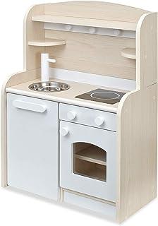 木製 ままごとキッチン minicook(ミニクック) (完成品Ver.4 ワゴンタイプ, ホワイト)