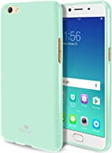 GOOSPERY Marlang Marlang Oppo R9S Case - Mint Green, Free Screen Protector [Slim Fit] TPU Case [Flexible] Pearl Jelly [Protection] Bumper Cover for Oppo R9S, OPPOR9S-JEL/SP-MNT