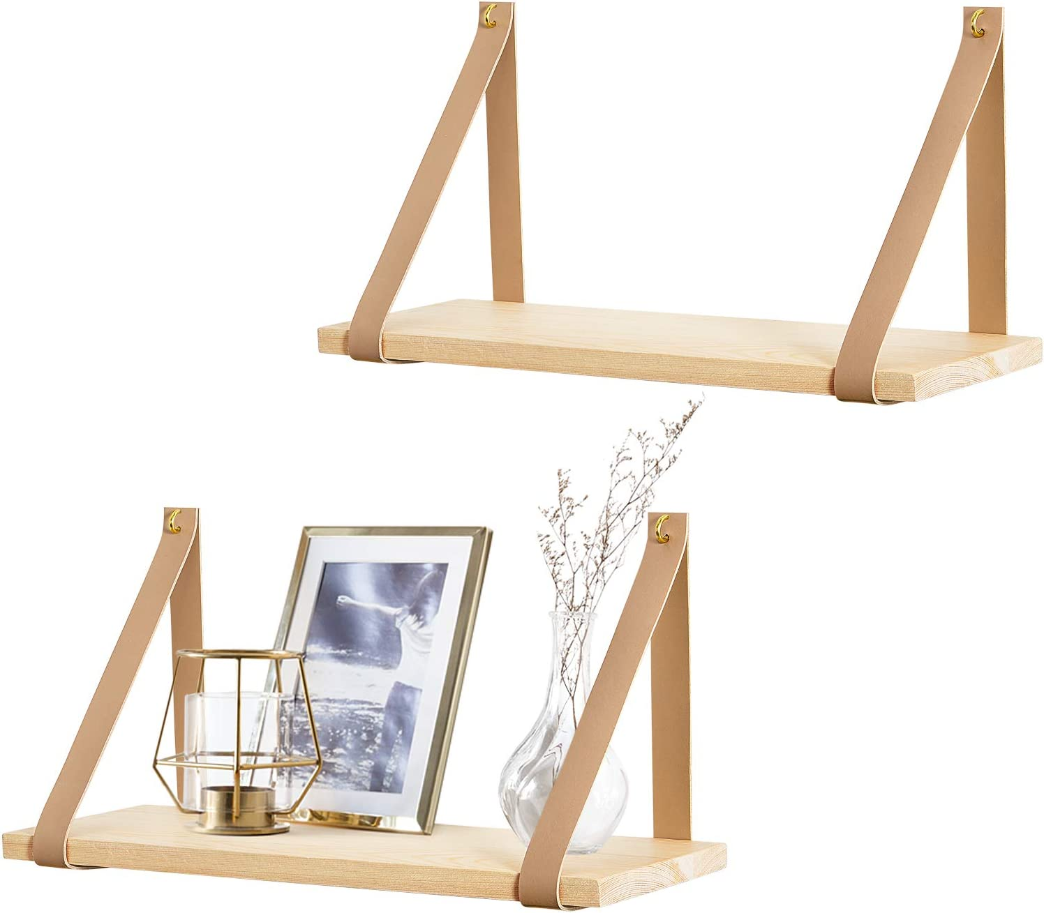 Mkono Hanging Shelf Ranking TOP10 Wall Wood Storage At the price of surprise Floating Leather Shelves S