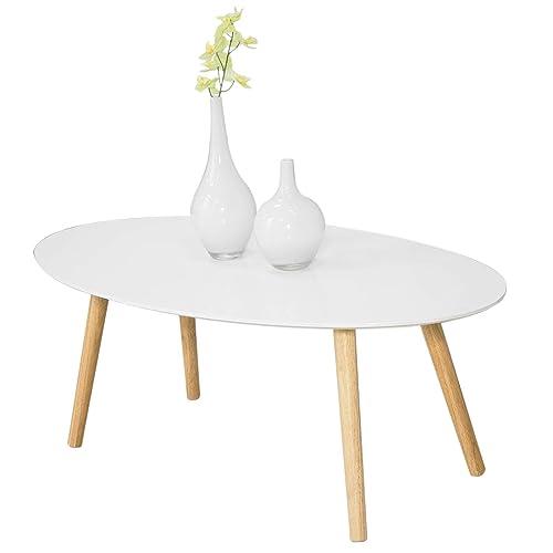 SoBuy Mesa de Centro para Salón,Mesa de Café, Blanco, L105xH40 cm,