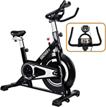 ONETWOFIT Indoor Exercise Bike with Monitor,Adjustable Seat & Handlebars Cycling Spinning Bike for Home Cardio Workout OT125