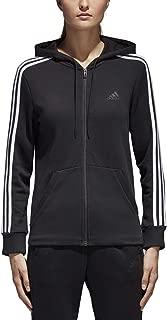 Women's Essentials Cotton Fleece 3-Stripe Full Zip Hoodie