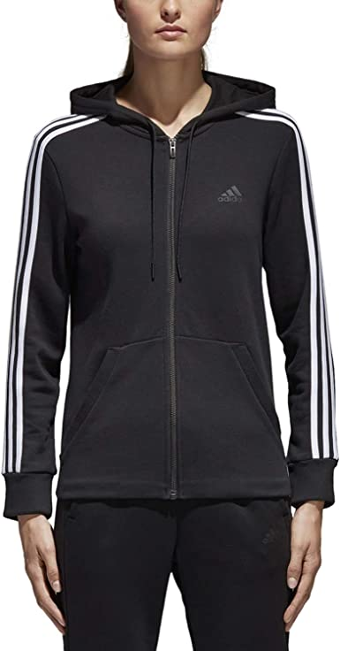 Amazon.com: adidas Women's Essentials Cotton Fleece 3-Stripe Full ...