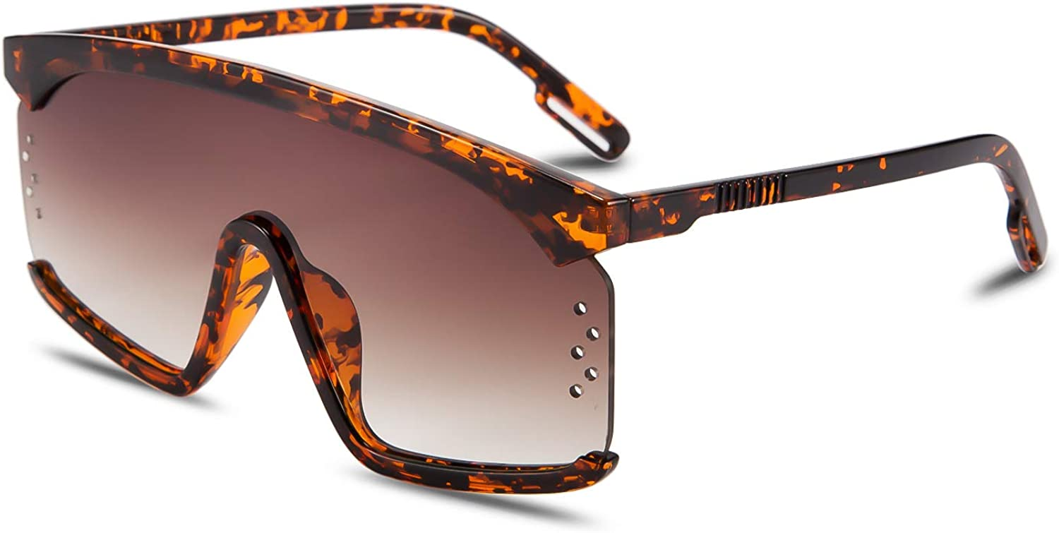 FEISEDY Max 80% OFF One Piece Sunglasses Oversized free Goggles Women Men Shades