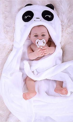 UBTY Ganz  Silikon Vinyl magnetisch Baby Doll  ne Deine Augen mädchen Reborn Babypuppen Neugeborenes Geburtstag Geschenk 18 inch 45cm