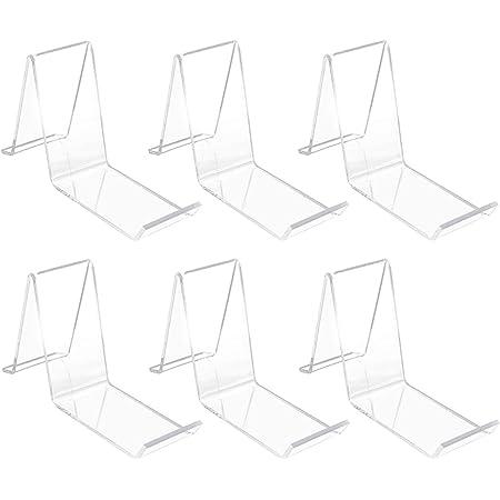 POHOVE Lot de 6 présentoirs à chaussures d'angle portables inclinés pour ranger les talons - Multifonctions - En acrylique transparent