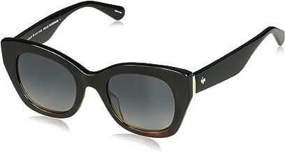 Kate Spade Women's Jalena/s Cateye Sunglasses, Black Havana, 49 mm