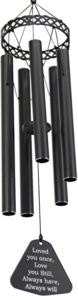Wind Chimes Outdoor Deep Tone 30 Sympathy Wind Chimes Amazing Grace Tuned Soothing Relaxing Melody Memorial Wind Chime For Mom Loved Or Christmas Housewarming Decor Chime Black
