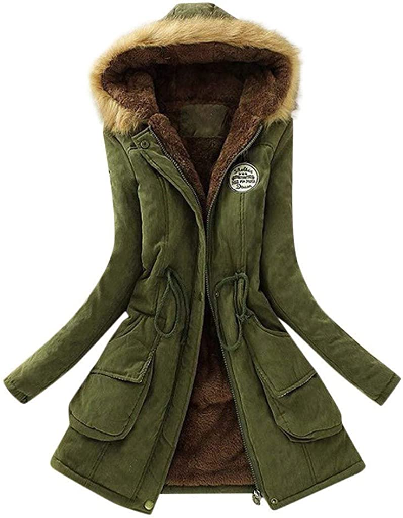 Cardigo Oversized Winter Coats for Womens Ladies Warm Hooded Jacket Slim Cute Fashion Outerwear