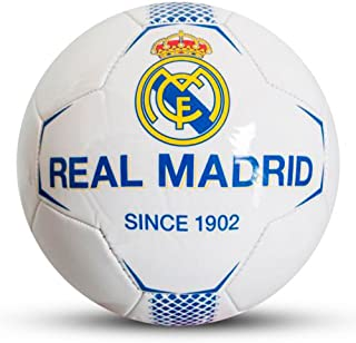 6bc8ded286569 Real Madrid FC Since 1902 White Football Size 5 Faux Leather Ball Official  Product