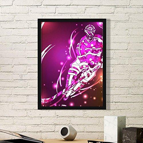 DIYthinker Wintersport Skifahren Ski und Eishockey Cartoon-Stil Illustration Einfache Bilderrahmen Kunstdrucke von Paintings Startseite Wandtattoo Small Schwarz