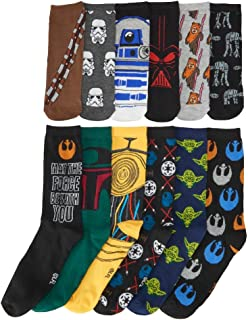 Hyp Men's Star Wars 12 Days Of Socks, Black, Large