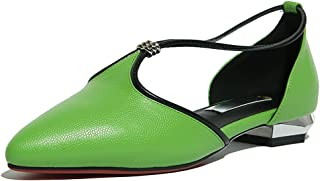 Nine Seven Women's Leather PointToe D'Orsay Flats