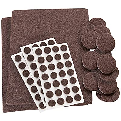 SoftTouch Self-Stick, Heavy Duty Furniture Felt Pads Combo Pack