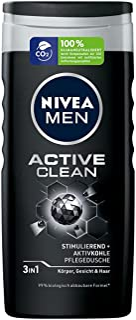 Nivea Men Active Clean verzorgende douchegel, effectieve douchegel met natuurlijke actieve kool, verfrissende douche voor ...