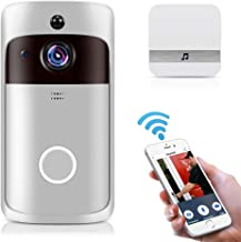 Smart Home WiFi Doorbell 1080P HD Security Camera with Two-Way Audio PIR Motion Detection IR Night Vision 160-Degree Wide ...